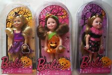 New 2014 HALLOWEEN Exclusive Barbie Holiday Chelsea Kelly Doll LOT SET 3