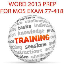 Word 2013 para Mos examen de certificación 77-418 - Video Tutorial DVD de entrenamiento
