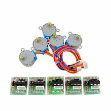 5pcs 5V Stepper Motor 28BYJ-48 W/ Drive Test Module Board ULN2003 5 Line 4 Phase