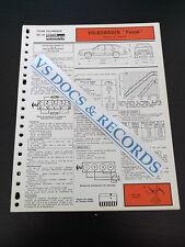 FICHE TECHNIQUE AUTOMOBILE RTA VOLKSWAGEN PASSAT MOTEUR 1,3 type EP  (réf006)