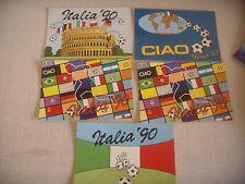 5 CARTOLINE SERIE CAMPIONATI DEL MONDO DI CALCIO  COPPA MONDO ITALIA '90