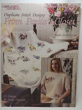 Paula Vaughan Duplicate Cross Stitch 13 Designs Pattern Leaflet 2196 Book 47