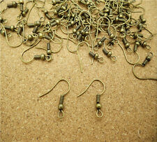 Wholesale 100pcs Earring Hook Coil Ear Wire For Jewelry Making Findings HE13