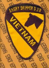D Co 2nd Bn 8th Cav ANGRY SKIPPER 1st Air Cavalry Division Vietnam patch