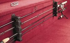 Horizontal Boat Wall Hung 4 Fishing Pole Rod Rack Storage Holder Organizer, NEW