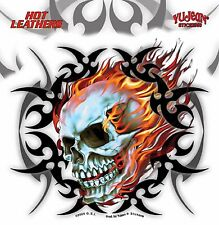 YUJEAN ADESIVO ADESIVI TRIBAL Flaming Scull CASCO SERBATOIO BIKE AUTO LAPTOP Chopper