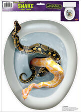 TOILET TOPPER Snakes design 1 cling bathroom lid seat decal sticker Halloween