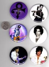 6 big Prince 2.25 inch pins button badge