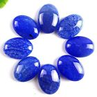 8pcs Beautiful Royal blue Dragon Veins Agate Oval Cab Cabochon 25x18mm A6801