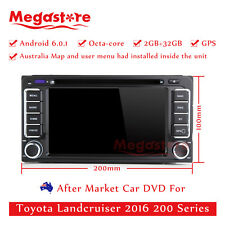 "6.2"" Octa Core Android 6.0 Car DVD GPS For Toyota Landcruiser 2016 200 Series"