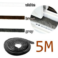 5M Weather Brush Pile Strip Insulation sealing for doors windows Insulation Roll