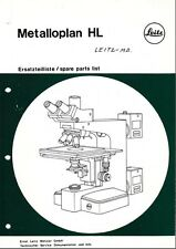 Leitz Metalloplan HL Parts List on CD LO182
