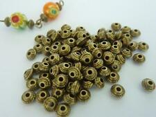 100 pce Antique Bronze Saucer Spacer Beads 5mm x 3mm
