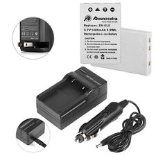 2 pcs EN-EL5 Battery + Charger for Nikon Coolpix P510 P520 P530 P90 P100 P500