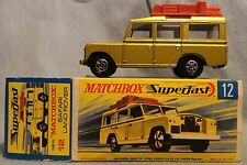 Matchbox Lesney no. 12, Safari Land Rover Gold Superfast, MIB, original box