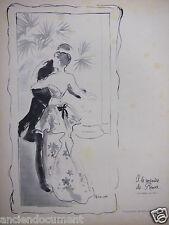 PUBLICITÉ 1948 A LA MANIÈRE DE BERTHE MORISOT MANET MONET ROCHAS LANVIN LELONG