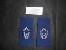 USAF US Air Force Chief Master Sgt Rank Slides / Badge / Patch Pair