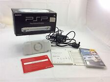 Sony PSP 1003 Ceramic White Games Console Boxed with Instructions Bundle