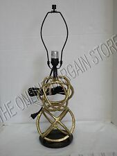 Pottery Barn West Elm DOUBLE Geodesic Bed Desk Table Lamp Light NO SHADE Brass