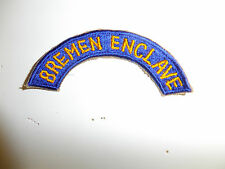 b7594 WW2 US Army Bremen Enclave Tab Worn ETO European Theater Operations A7B12