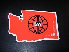 "SUB POP SEATTLE 4"" WASHINGTON STATE OUTLINE red Sticker Decal pearl jam nirvana"