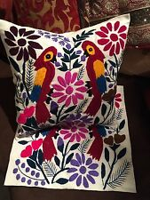 New Handmade Embroidered Ethnic Mexican Otomi Throw Pillow Cases Cushion Cover