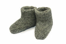 Size 12.5 (46 EU) GREY MENS WOOL BOOTS WARM WHITE SLIPPERS SHEEP COZY