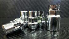 LOCKING LUG NUTS WHEEL LOCKS CHROME 14X1.5   8x6.5   CHEVY GMC SILVERADO HUMMER