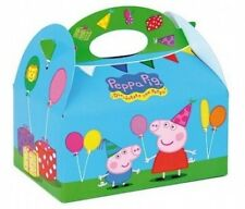 12 Peppa Pig Food Boxes ~ Picnic Carry Meal Box ~ Kids Birthday Party Bag Plate