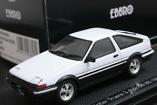 Ebbro 43818 1:43 Toyota Sprinter Trueno AE86 1983 Die Cast Model Sport Car White