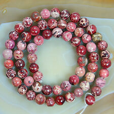 "6mm Sea Sediment Jasper Round Beads 15.5"" Pick Color"