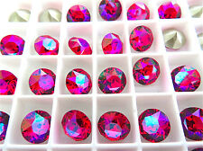 12 Light Siam Glacier Blue Swarovski Crystal Chaton Stone 1088 39ss 8mm
