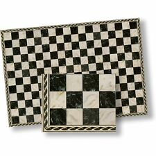 1:24 Dollhouse Flooring Faux Marble Black Checkered Floor Tile