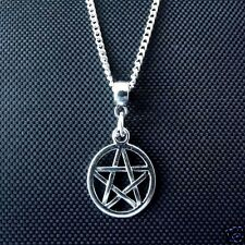 "10 x Tibetan Silver 18""  Pentagram Pendant Necklaces Pagan Wicca Job Lot Inch"