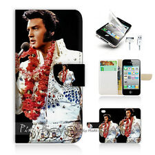iPhone 4 4S Print Flip Wallet Case Cover! Elvis Presley P0133