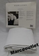 Ralph Lauren Home Palmer Cotton Percale KING Duvet Cover Tuxedo White