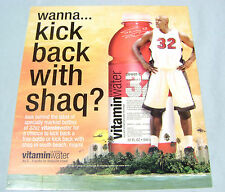 2006 Shaq Shaquille O'Neal Vitamin Water Store Advertising Display Sign
