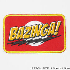 """""""BAZINGA"""" From The Big Bang Theory Series Slogan Embroidered Iron-On Patch - NEW"""