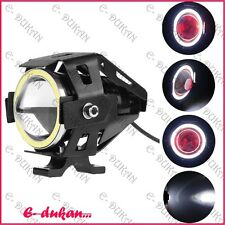 1x Motorcycle U7 Cree LED 3000LM Fog Spot Light CAR/BIKE/ROYAL ENFIELD- WH RING