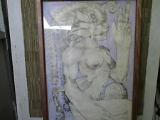 "Aremeil Cuban Artist Original Painting-  '05 Pencil mixed on paper 26"" x 36"""