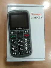 FUNKER C50 FACIL Color NEGRO - GRIS  LIBRE   EASY PHONE