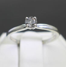 .28cts 4.07mm Natural Fancy Platinum Gray Color Diamond Ring $390 Value Size 6.5