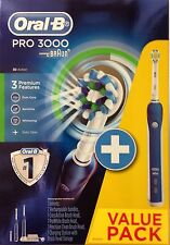 BRAUN ORAL B PRO 3000 DUAL HANDLE ELECTRIC TOOTHBRUSH