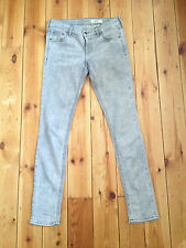 H&M LADIES GREY ACID WASH DENIM JEANS W28 L32