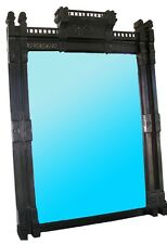 Antique American Aesthetic Movement Ebonized Over Mantel Mirror #7251