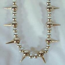 NEW SPIKE BALL CHAIN METAL 18 INCH NECKLACE mens womens spikes jewelry #JL513