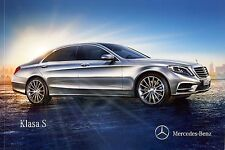 Mercedes S Class W222 06 / 2014 catalogue brochure Poland