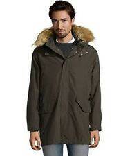 COLE HAAN Olive Water-Resistant 2 In 1 Hooded Anorak Jacket L