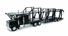 Freightliner Classic XL Black Car Carrier 1:32 Diecast Tractor Trailer Model