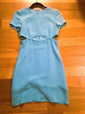 Emilio Pucci Baby Blue Cut Out Short Sleeve Dress 100% Silk NWT Size 40/4 $2495